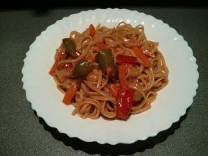 receta Tallarines con verduras