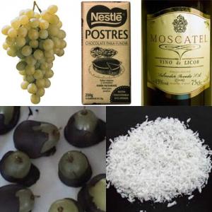 receta UVAS CON CHOCOLATE