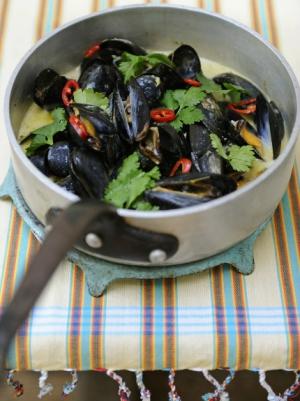 receta Mejillones Thai de Jamie Oliver