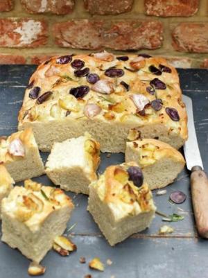 receta Focaccia de patata y romero de Jamie Oliver