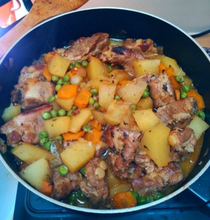 receta Costillas de cerdo guisadas