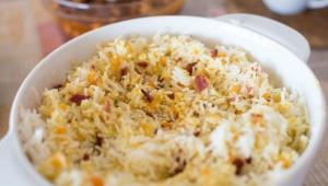 receta Arroz asiático con huevos