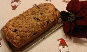 receta Panqué de frutos rojos con crumble